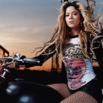 Shakira on Bike HD Wallpapers Pictures