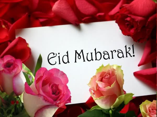 Eid Mubarak 2012 Red Roses HD Wallpapers